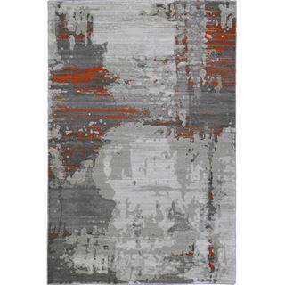 Picture of Abstract Art Orange Rug