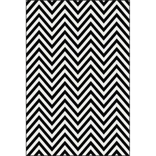 Picture Of Chevron Black White Rug