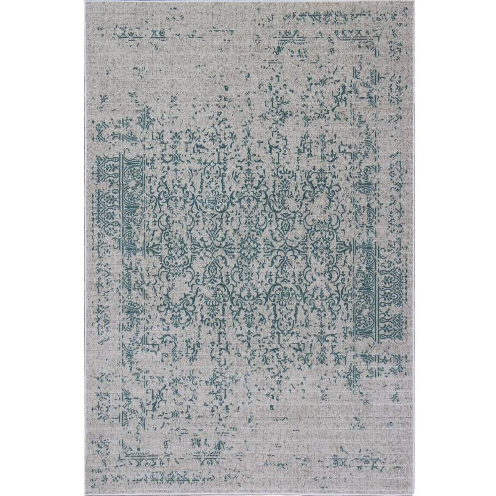 Distressed Turkish Teal Rug