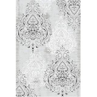 Picture of Damask Gray & White Rug