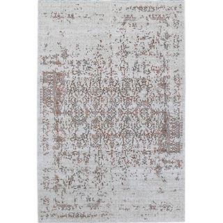 Picture of Distressed Turkish Gray Orange Rug