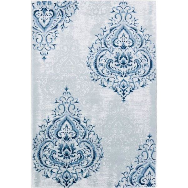 Picture of Damask Tonal Blue Rug