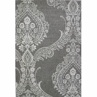 Picture of Damask Tone on Tone Gray Rug