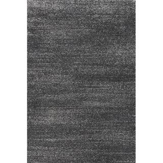 Picture of Subtle Striped Gray and Black Rug