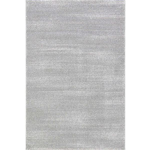 Picture Of Striped Gray And White Rug