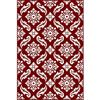 Picture of Transitional Floral Red Rug