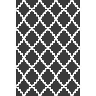 Picture of Trellis Dark Gray Rug