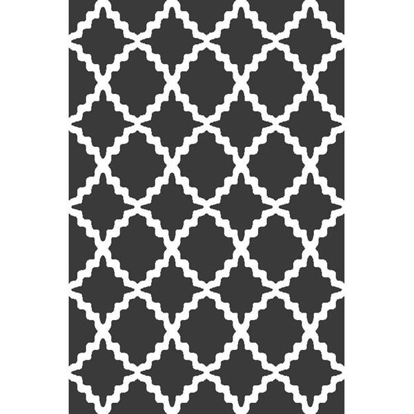 trellis dark gray rug graphic modern rug with trellis pattern