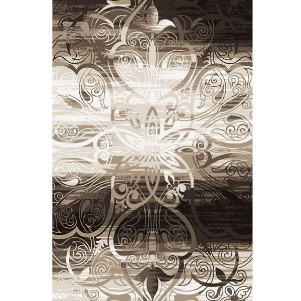 Neutral-Damask-Brown-Rug