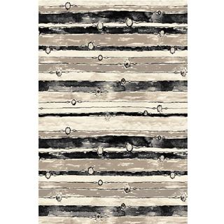 Neutral-Striped-Brown-Rug