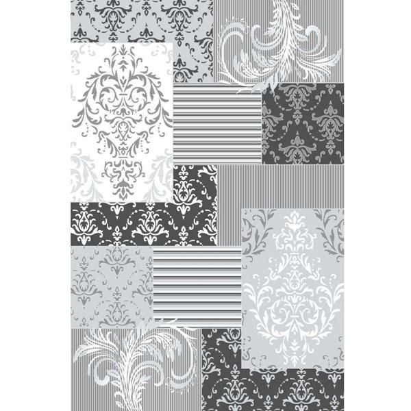 Patchwork-Damask-Rug-Gray