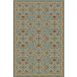 Oriental Blue Rug With All Over Pattern