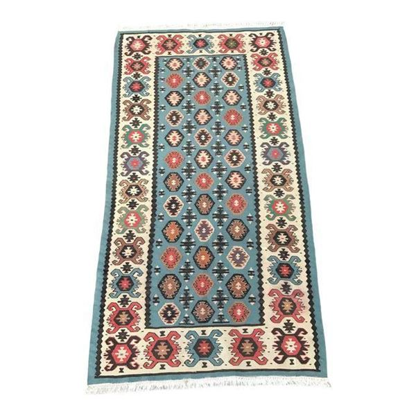 VE2252-Vintage Turkish Kilim Rug- 2'8'' x 5'1''