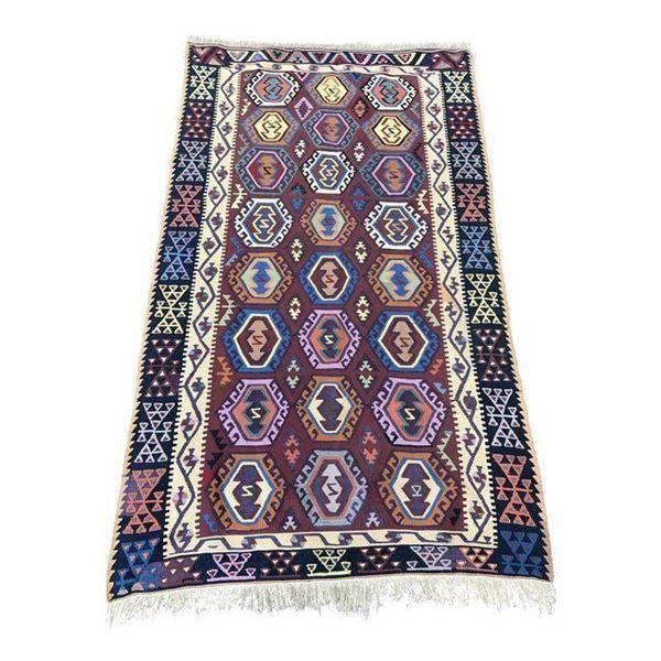 Handmade Turkish Flat Weave Kilim Rug