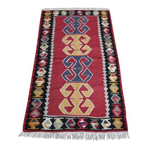 hand-knotted-red-kilim-rug