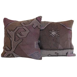Pair-Purple-Kilim-Rug-Pillow 1