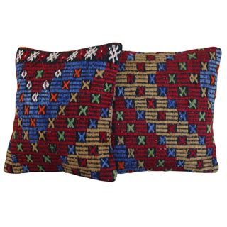 16'' Decorative Kilim Pillows - A Pair