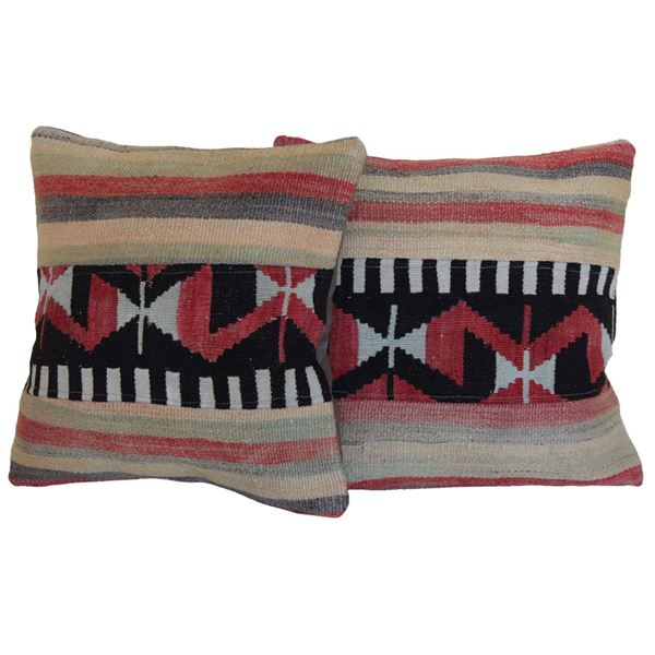 antique-turkish-kilim-rug-pillows-a-pair 1