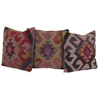 Bohemian-Kilim-Rug-Pillows-Set-of-3 1