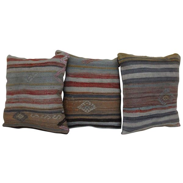 16'' Wool Turkish Kilim Pillows Set of 3