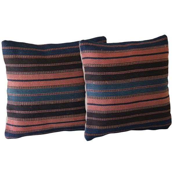 Kilim-Pillows-with-Stripes - A Pair 1