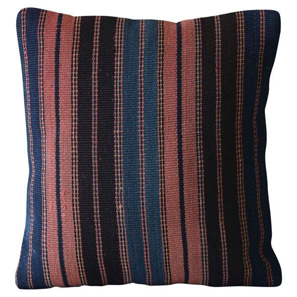 Multi-Color-Striped-Kilim-Pillow 1