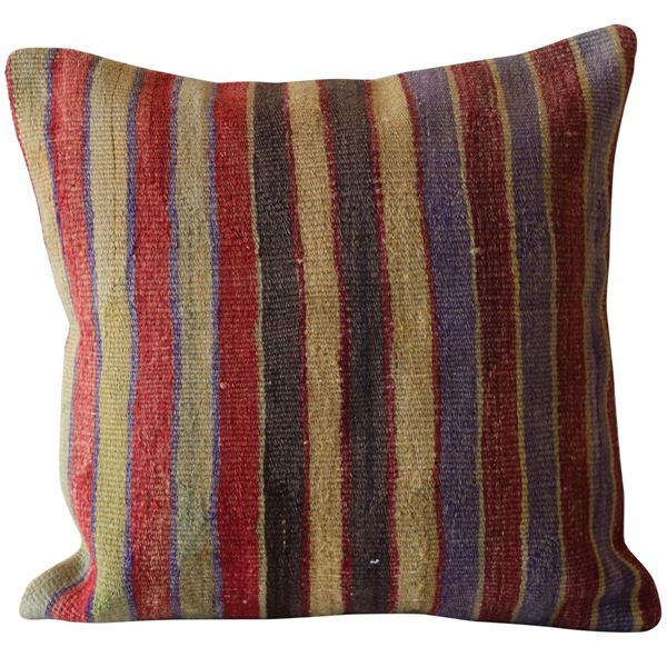 Colorful-Striped-Wool-Kilim-Pillow 1