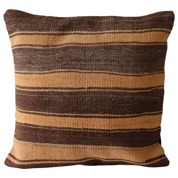 Neutral-Striped-Hand-Knotted-Pillow 1
