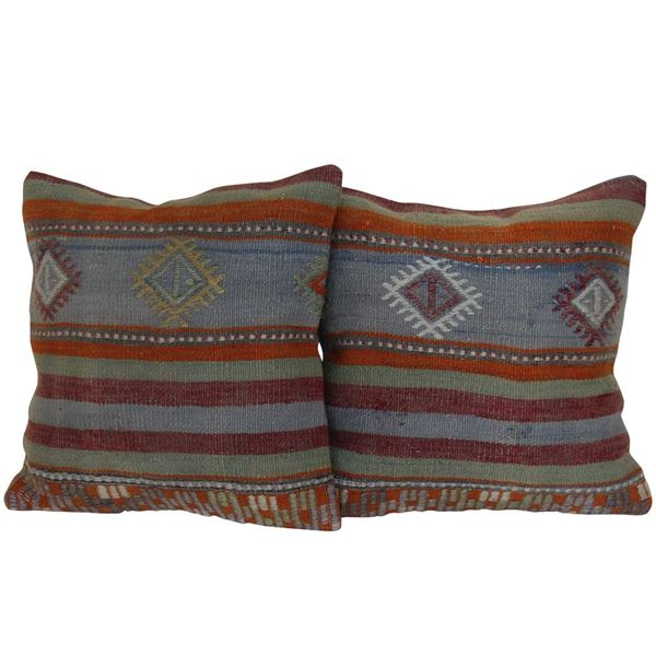 Antique-Kilim-Rug-Pillows - A Pair 1