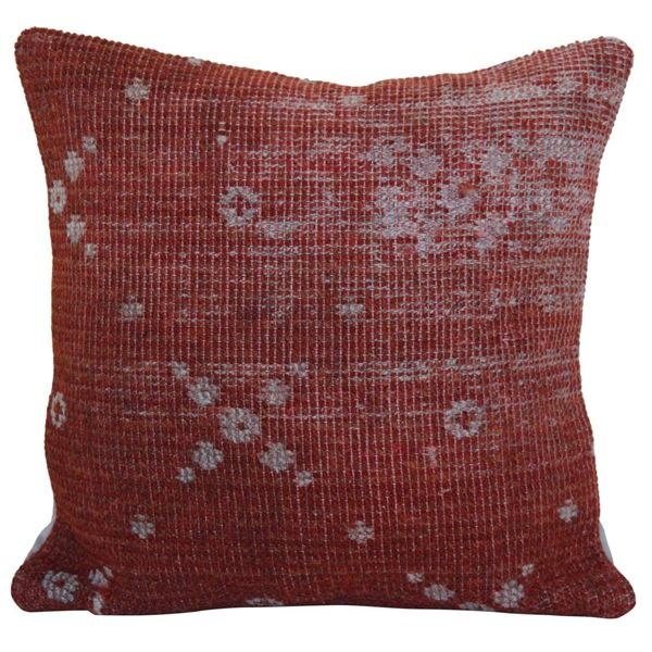 Faded-Distressed-Red-Kilim-Pillow 1