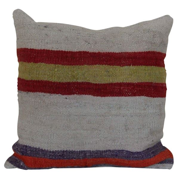 Multi-Colored-Striped-Kilim-Pillow 1