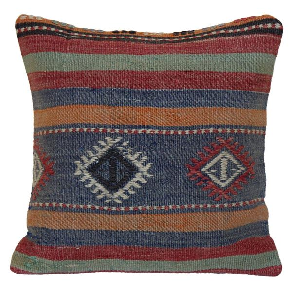 Handwoven-multi-colored-Kilim-Pillow 1