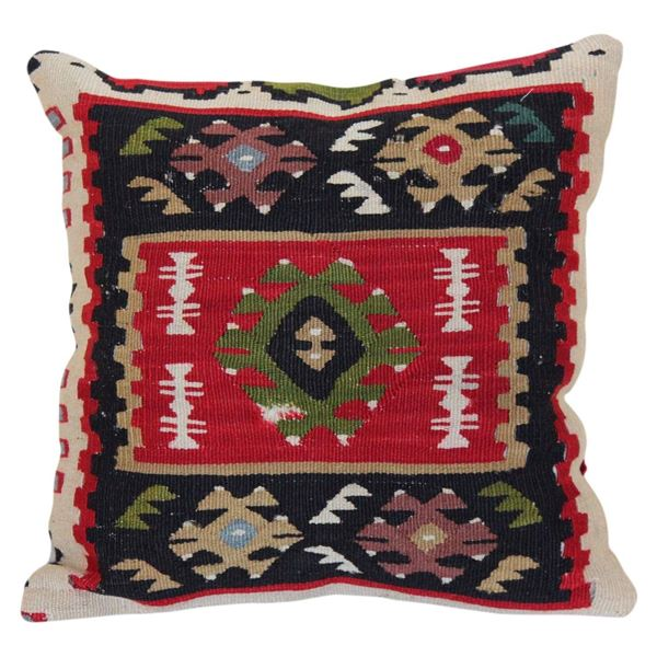 Antique-Oriental-Kilim-Rug-Pillow 1