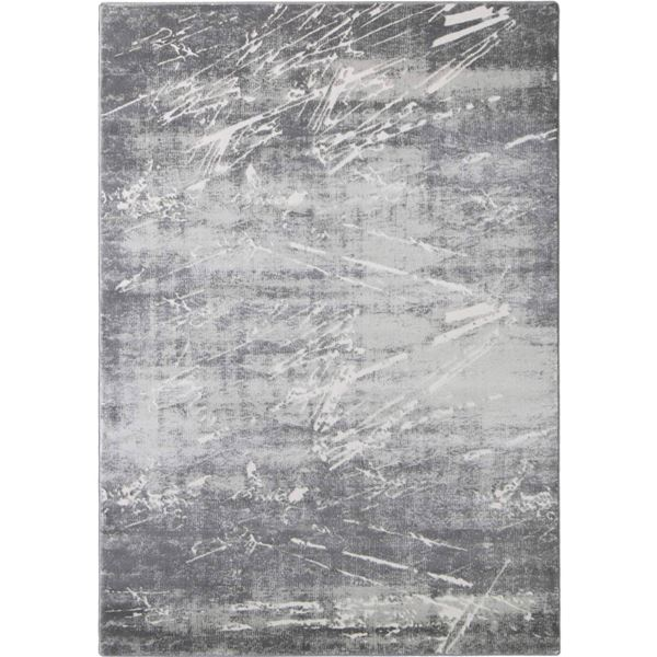 Textured Gray Brush Art Rug Cozy